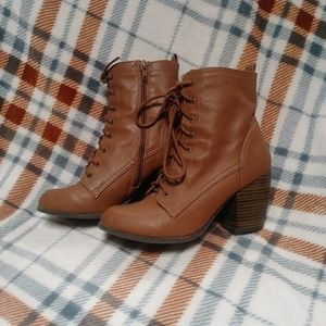 🍁Brown heel boots🍂